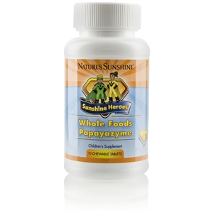 SUNSHINE HEROES WHOLE FOODS-PAPAYAZYME (90 CHEWABLE TABLETS)